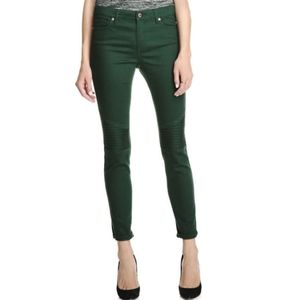 JOE FRESH Green Twill Skinny Moto Jeans